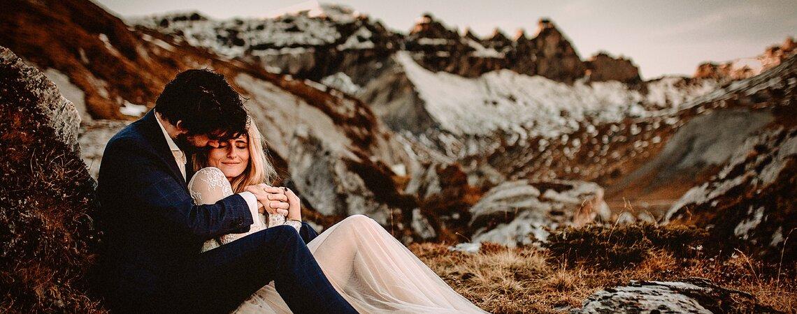 Das atemberaubende After-Wedding-Shooting von Jasmin & Per in den Bergen