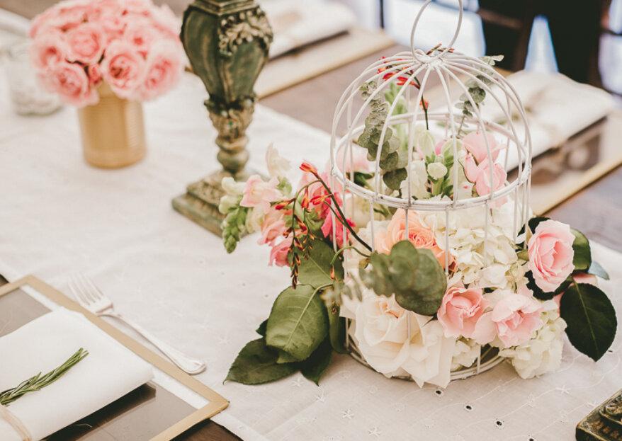 Cómo hacer los centros de mesa de tu matrimonio: ¡sorprende con muchos detalles!