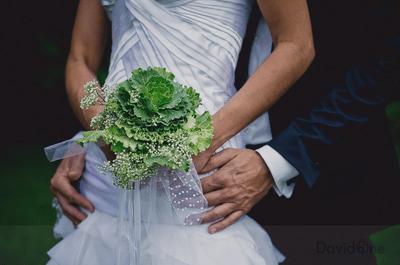 Ramos de novia verdes, grandes y atrevidos para tu boda 2013