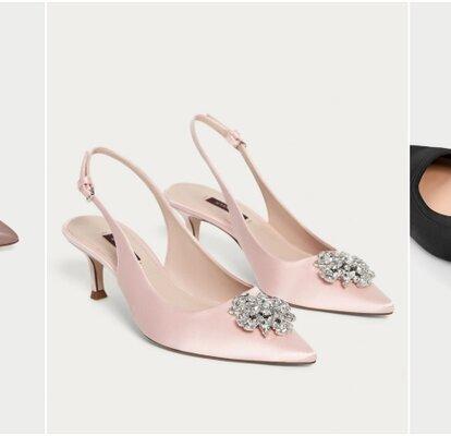 Zapatos de tacón medio para aguantar toda la boda