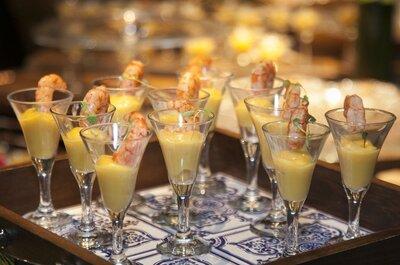 Surpreenda os seus convidados com um menu contemporâneo, ousado e delicioso no seu casamento