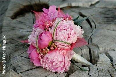 Idées de bouquets de mariée roses