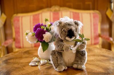 Hochzeitsmotto Australien - Ein Koala als Ehrengast bei der Hochzeit von Stephanie & Jan in Baden!