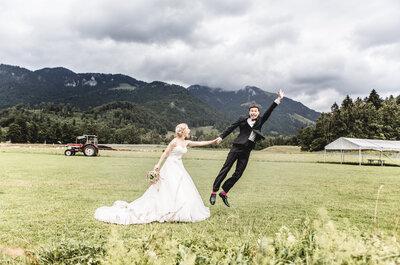 Oberbayerische Hochzeit im Hochsommer: Isabella & Christian zeigten Leidenschaft bei der Planung!