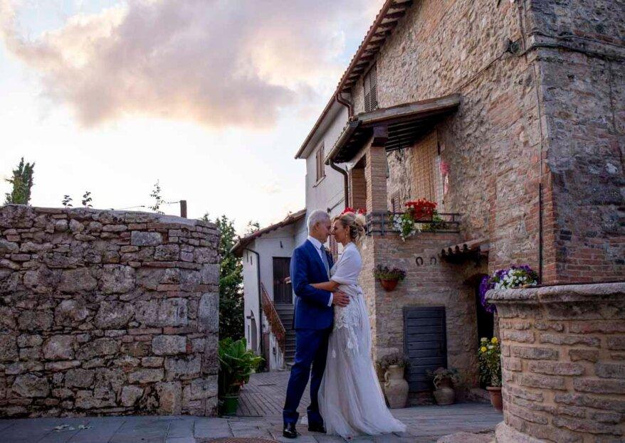 Commozione e romanticismo alle nozze di Luisa e Stefano