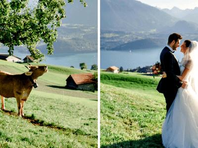 Traumhochzeit im Schloss Hüningen & Paar-Shooting im malerischen Berner Oberland!