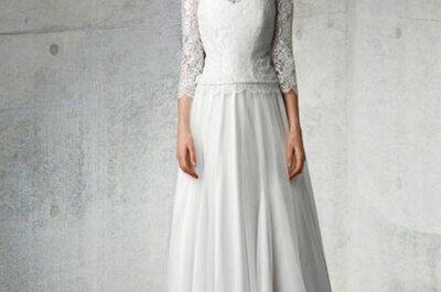 Hermosos vestidos de novia con manga larga
