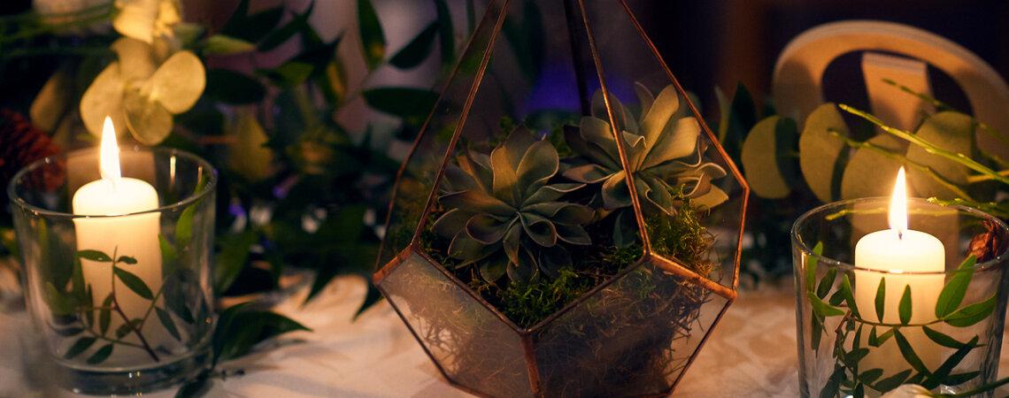 Najlepsze geometryczne dekoracje ślubne. Podobają Ci się?