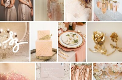 Ornamentos de ensueño: Envuelve el concepto de tu boda en el encanto del color rose champagne