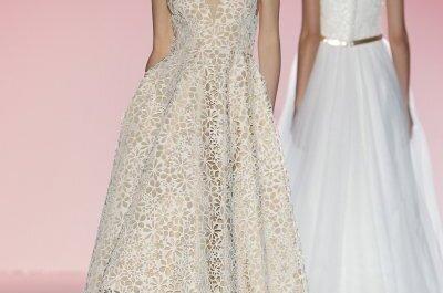 Delicadeza e estilo puro nos vestidos de noiva de Hannibal Laguna 2015
