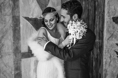 I ruggenti anni '20 in un wedding shooting ispirato a