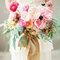 Bouquet da sposa di peonie
