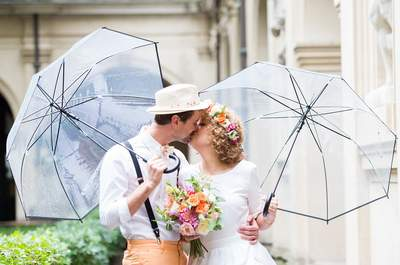 Quand les mariés sont des artistes : le joli mariage DIY de Laura et Clément