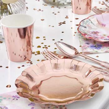 Platos dulce rosa gold 8 unidades- Compra en The Wedding Shop