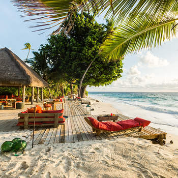 Os detalhes da sua lua-de-mel não foram divulgados, mas fontes revelam que os pombinhos relaxaram no Resort North Island, um resort de luxo nas Seychelles que é de tal forma privado que só se consegue lá chegar de helicóptero. Foto: North Island