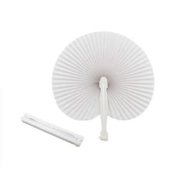 Abanico blanco 100 unidades - Compra en The Wedding Shop