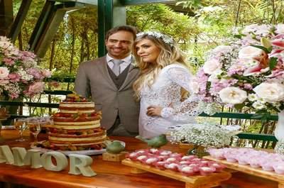 Mini wedding de Priscilla & João: ao ar livre, com a família  e em meio ao verde mais exuberante!