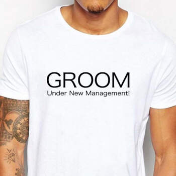 Camiseta Groom Under New Management- Compra en The Wedding Shop