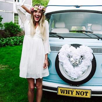 Corazón de flores para el coche - Compra en The Wedding Shop