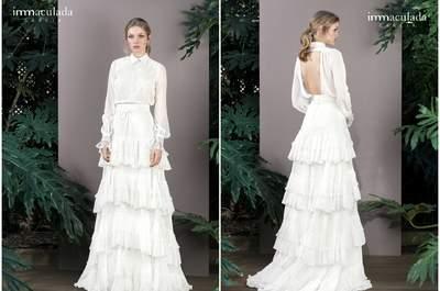 Sehen Sie hier die neuen Brautkleider von Inmaculada Garcia 2017. Der Zauber Asiens durchdringt diese Brautmoden-Kollektion