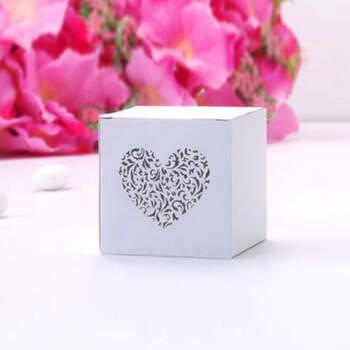 Caja Cubo Corazón 10 Unidades- Compra en The Wedding Shop