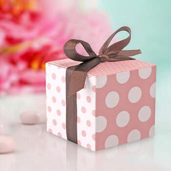Caja Lunares Shabby Chic 10 unidades- Compra en The Wedding Shop