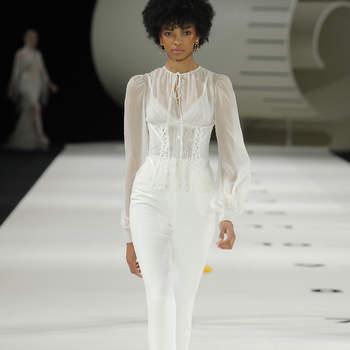 YolanCris. Credits: Barcelona Bridal Fashion Week.