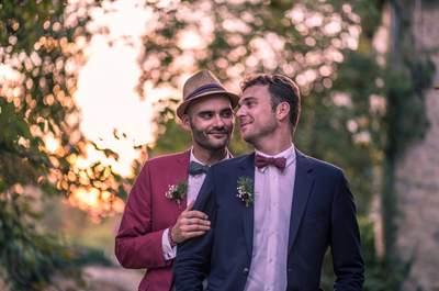Real Wedding: Mickaël + Fabien's Fun-Filled Big Day in Gironde, France