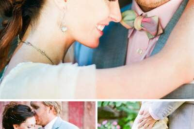 Real Wedding: La boda bohemia más linda envuelta en mágicos colores
