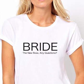 Camiseta Bride The New Boss- Compra en The Wedding Shop