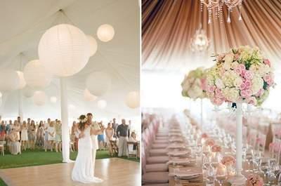 Originales ideas para decorar la carpa de tu banquete de matrimonio