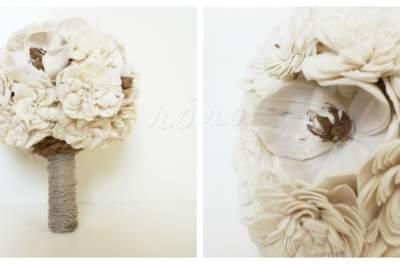 Bukiety ślubne z drewna BALSA