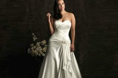 Curvy è bello, anche da sposa! Foto courtesy Allure Bride