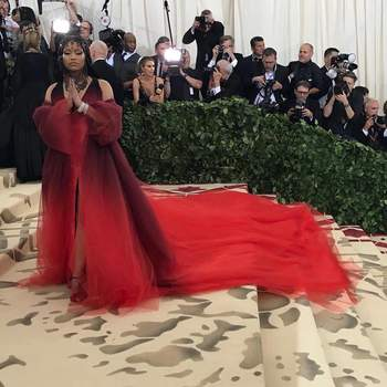 Nikki Minaj em Oscar de la Renta | Foto: IG Nicky Minaj
