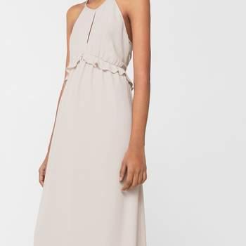 Vestido comprido halter Mango (59,99€)