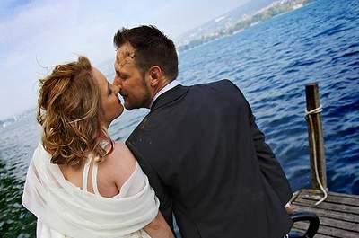 Der himmlische Hochzeitskuss ist und bleibt ein beliebtes Motiv für Hochzeitsfotografen in der ganzen Schweiz!