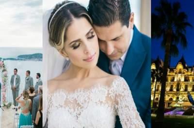 Roberta & Luiz: destination wedding ultra romântico e onírico na Côte D'Azur