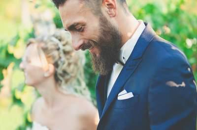 Uomini con la barba...quando lo sposo è sexy!