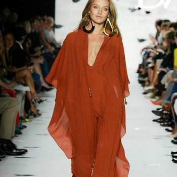 Outfit cor-de-laranja by  Diane Von Furstenberg Prim. 2013.