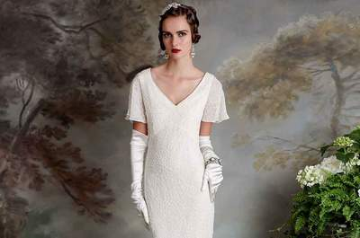 Something old, something new. Eliza Jane Howells romantically vintage 1920's wedding dress collections