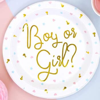 Platos boy o girl 6 unidades- Compra en The Wedding Shop