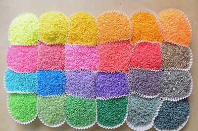 Du riz aux couleurs de son mariage, c'est possible et c'est facile à faire !