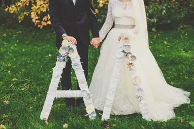 Буквы в декоре свадьбы: оригинальные вариации