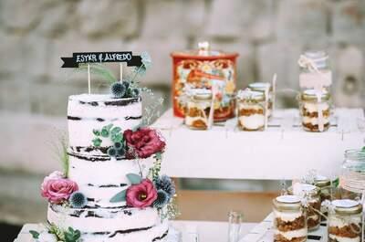 ¡Apuesta por esa tarta nupcial que dejará a todos con la boca abierta!