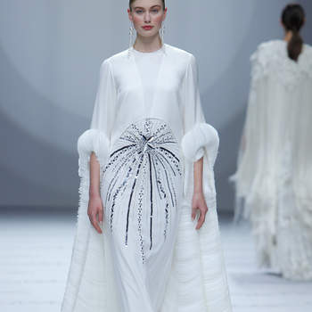 Isabel Sanchis. Credits: Barcelona Bridal Fashion Week