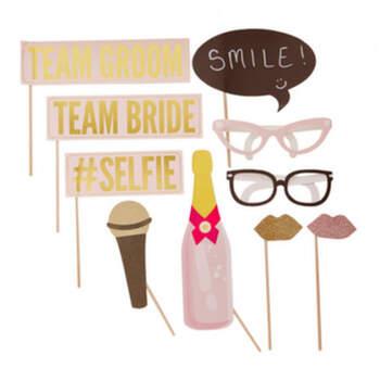 Photocall selfie 10 unidades - Compra en The Wedding Shop