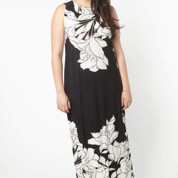 Credits: Black Floral Border Maxi Dress, Evans
