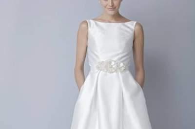 Vestido de noiva curto, by Theia 2013