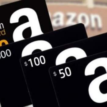 Tarjetas de regalo amazon $50 - 500