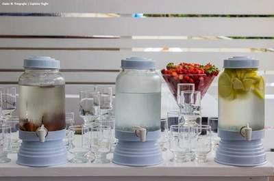 Águas aromatizadas: uma opção saudável e LINDA para o seu casamento e seu dia a dia!